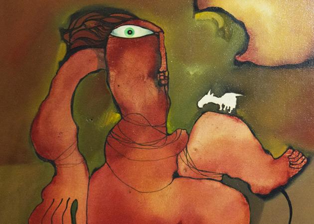 Gigi Pedroli, dipinto olio su tela